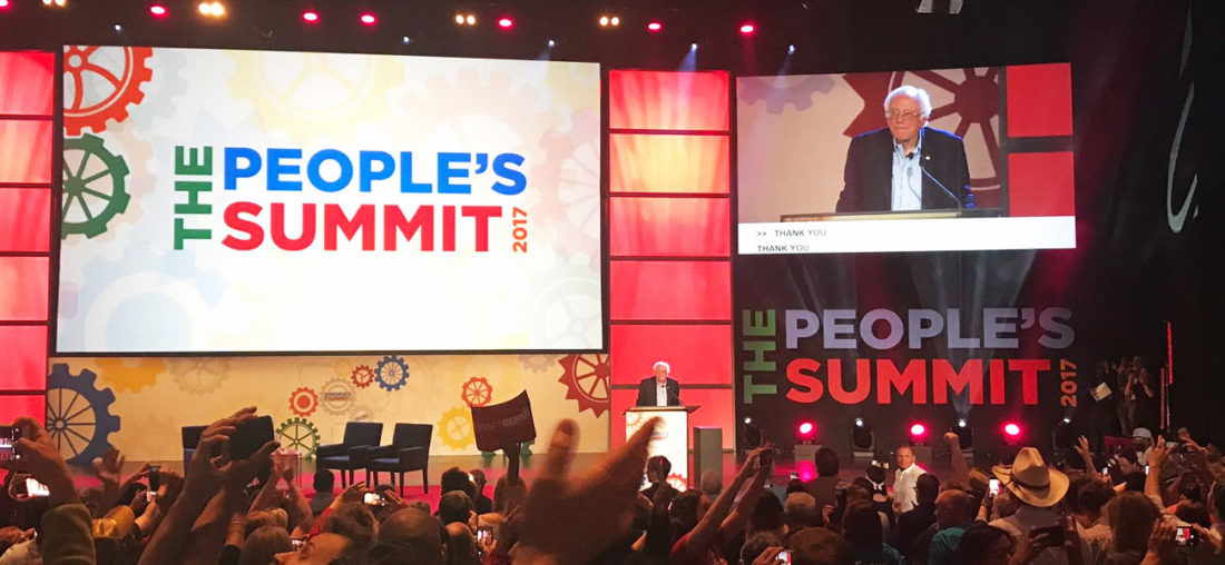 Bernie Sanders - The People's Summit 2017. Photo by Adam Kustra