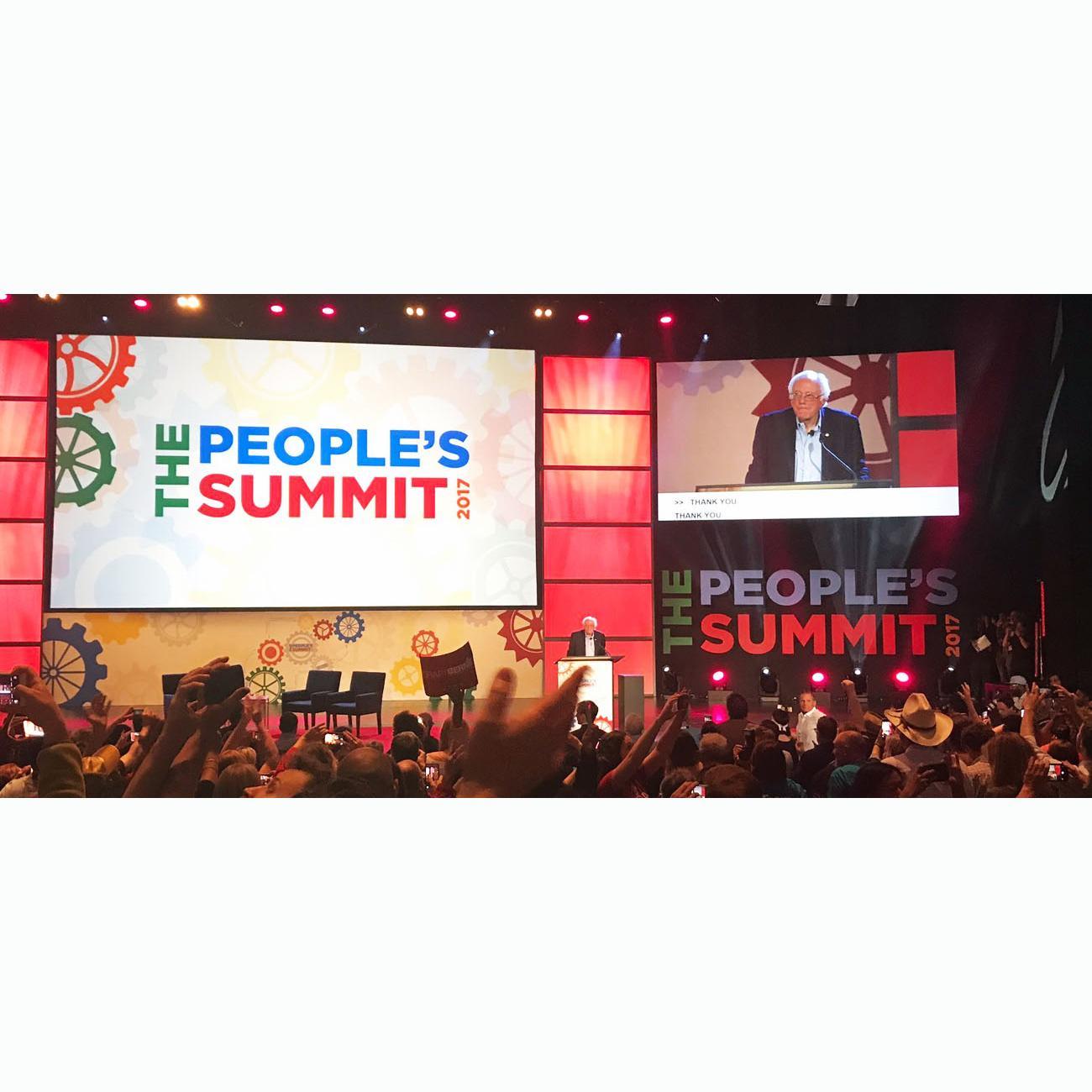 Bernie Sanders - The People's Summit 2017. Photo by Adam Kustra