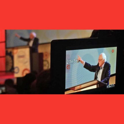 Bernie Sanders Speaking At The People's Summit 2017 - Photo by Holly Mosher