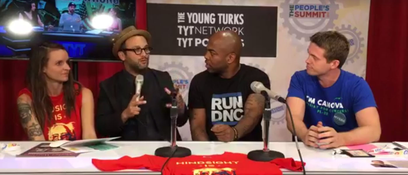 Chelsea Lyons At The People's Summit During A Young Turks Interview