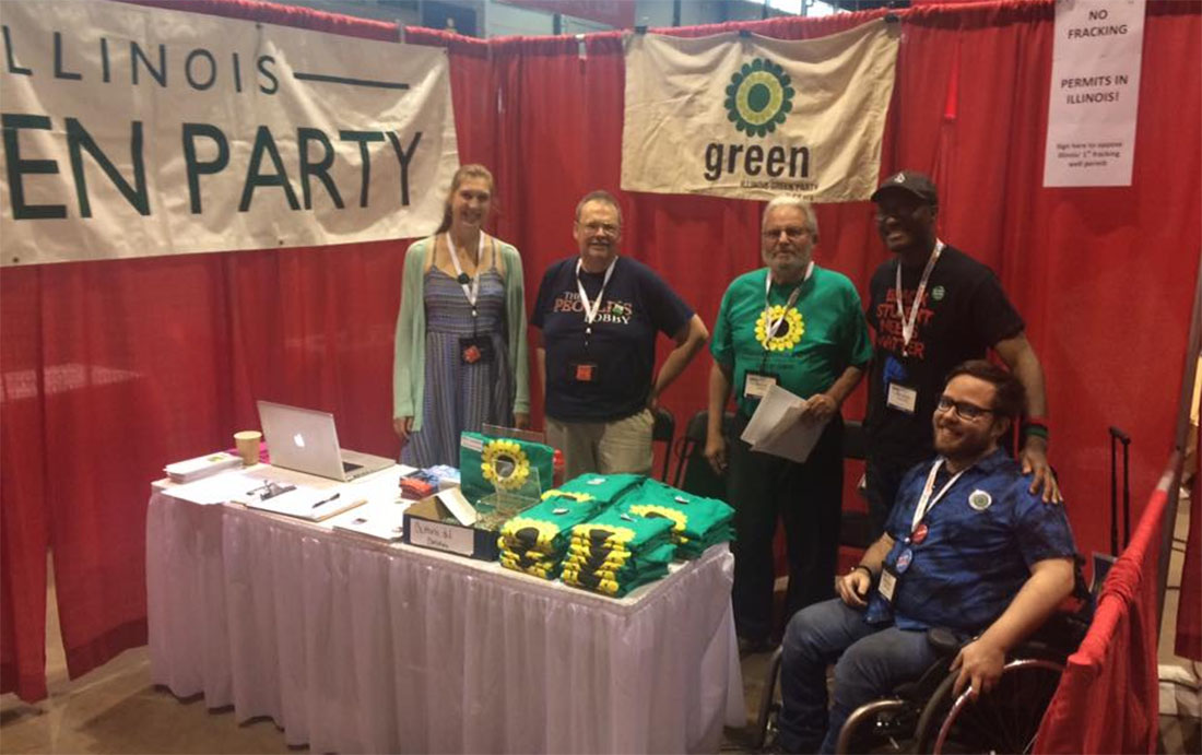 Illinois Green Party at The People's Summit 2017