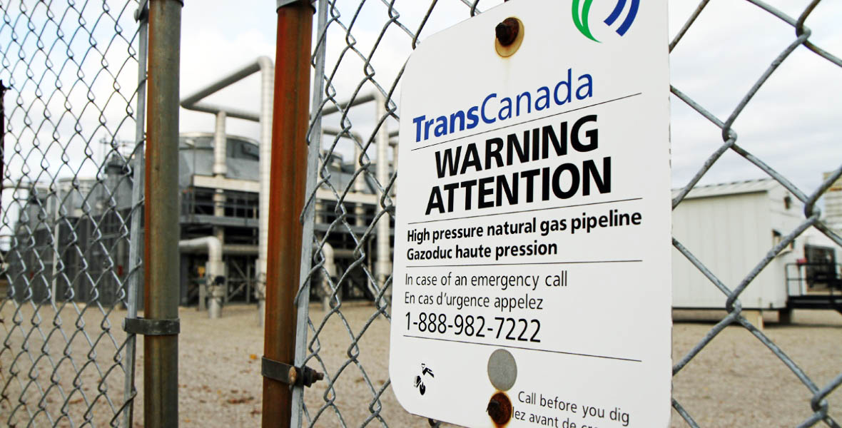 TransCanada Warning Sign (Cory Ruf/CBC)
